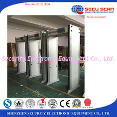 China 33 Zones Metal Detector Door By Wifi To Connect PC / Airport Door Frame Metal Detector supplier