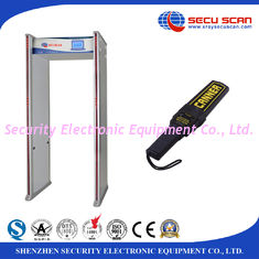 China 33 Zones Metal Detector Gate AT300C Walk Through Body Scanner Support Multi Language supplier