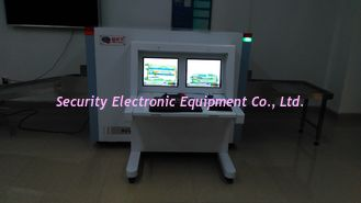 China Dual View X-Ray Baggage Inspection System AT6550D Baggage X Ray Machine For Airports supplier