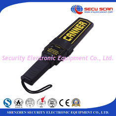 China Black Lightweight Hand Held Metal Detector Supper Scanner On / Off Switch Vibration Control supplier