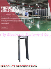 China Single Zone Door Frame Metal Detector Full Body Scanning For Police Weapons Check supplier