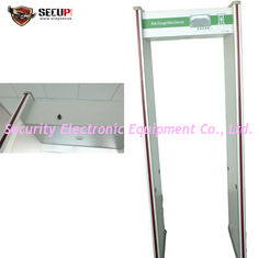 China Adjustable 33 Zones Metal Detector Gate Walk Through With 7 Inch LCD Screen supplier