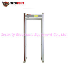 China 24 Zones Walk Through Metal Detector , Archway Metal Detector With LCD Display supplier