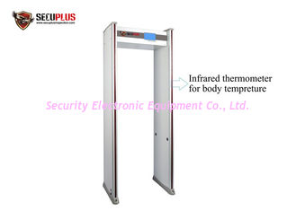 China 24 Zones Arched Metal Walk Through Gate Infrared Body Temp 80V-250V CE Approval supplier