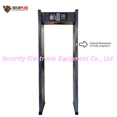 China security archway metal detector and human temperature detections to control coronavirus in government office entrance supplier