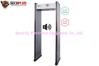 China Infrared Temperature Measuring Door Frame Metal Detector For School Mall Hotel Airport supplier