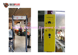 China Voice Alarm Archway Frame Metal Detector Multi Zone Body Temperature Detection System supplier