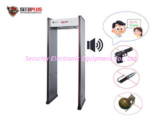 China 50/60HZ Security Door Frame Metal Detector With IR Temperature Detection System supplier
