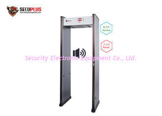 China Quick Throughout Metal Detector Gate 6 Zones Temperature Checking 10W 50/60Hz supplier