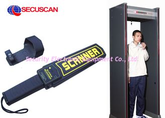 China Black Airport portable metal detector Super Handheld Body Scanner with Alarm for dangerous weapons supplier