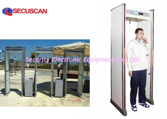 China Electronic Long Range Body Scanner Metal Detector Walk Through With Remote Controller supplier