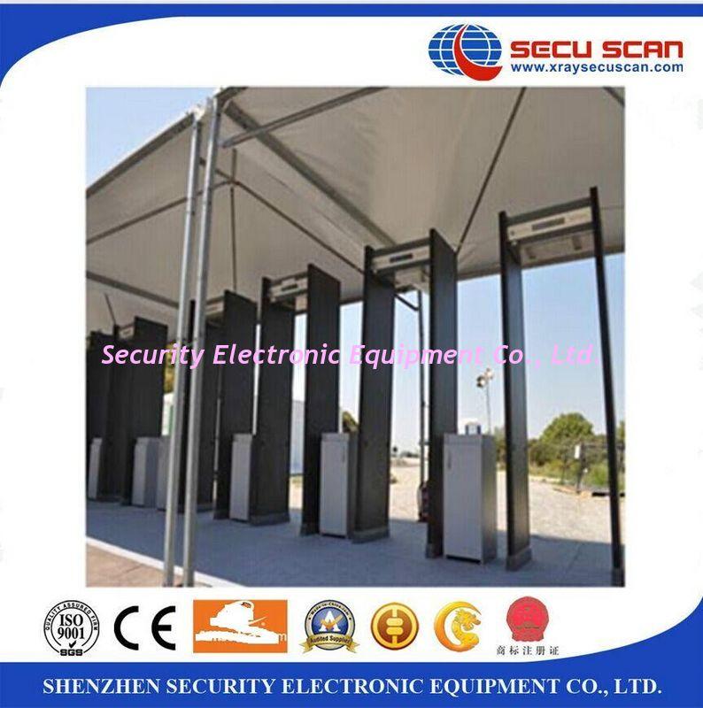 6 Zones Door Frame Metal Detector Walk Through Scanner Metal Detectors For Security & 6 Zones Door Frame Metal Detector Walk Through Scanner Metal ...