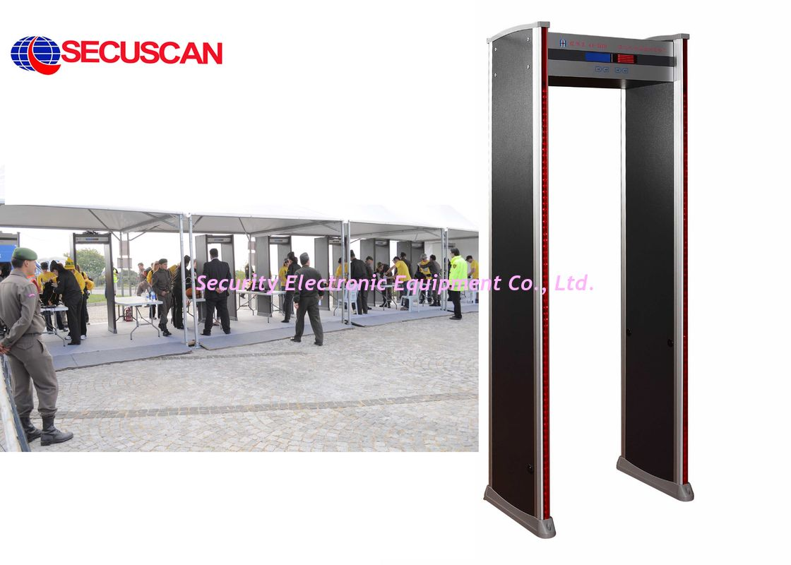 Walkthrough Metal Detector for Airport Security Inspection with six