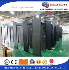 6 12 18 Zones Adjustment Metal Detector Door With Sound And Light Alarm