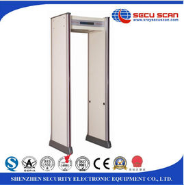 China IP55 Security Walk Through Metal Detector Weatherproof  LCD Display distributor
