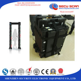 China Wireless movable Arched Door Metal Detector Equipment Built In Battery factory