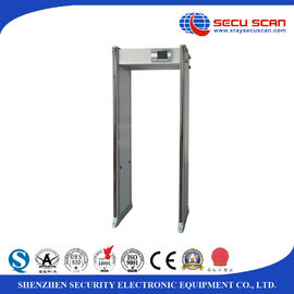 China IP67 Waterproof walk through security gate , airport metal detector Door with 33 detecting zones distributor