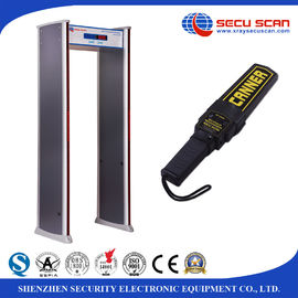 China Sound / LED Lights Alarm Walk Through Metal Detector For Station Security Check factory