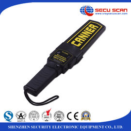 China Black Lightweight Hand Held Metal Detector Supper Scanner On / Off Switch Vibration Control distributor
