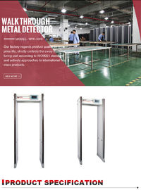 China Full Body Door Frame Metal Detector Audio And Visual Alarm With Remote Operate factory
