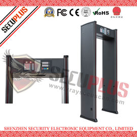 China SPW-IIIC Door Frame Metal Detector , 18 Zones Walk In Metal Detector Alarm Counter distributor