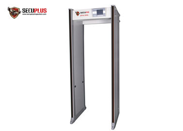 China Quick Infrared Body Temperature Walk Through Metal Detector Gate With Remote Control factory