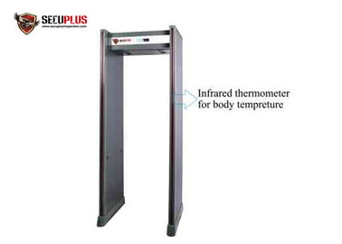 China Shock Proof Archway Metal Detector Gate Auto Body Temperature Detection System factory