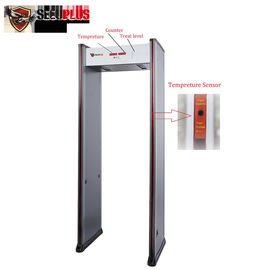 China Easy Installation Walk Through Metal Detector Infrared Body Temperature Detection System factory