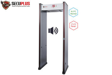 China Infrared Temperature Measuring Door Frame Metal Detector For School Mall Hotel Airport distributor