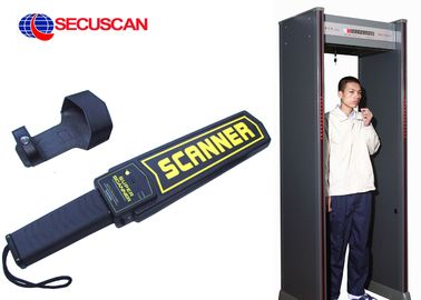 China Black Airport portable metal detector Super Handheld Body Scanner with Alarm for dangerous weapons distributor