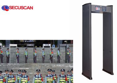 China 6 Pinpoint Zones Walk Through Scanner security body scanner factory