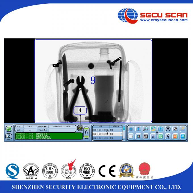 Portable Baggage And Parcel Inspection Baggage X Ray Scanner High Sensitivity