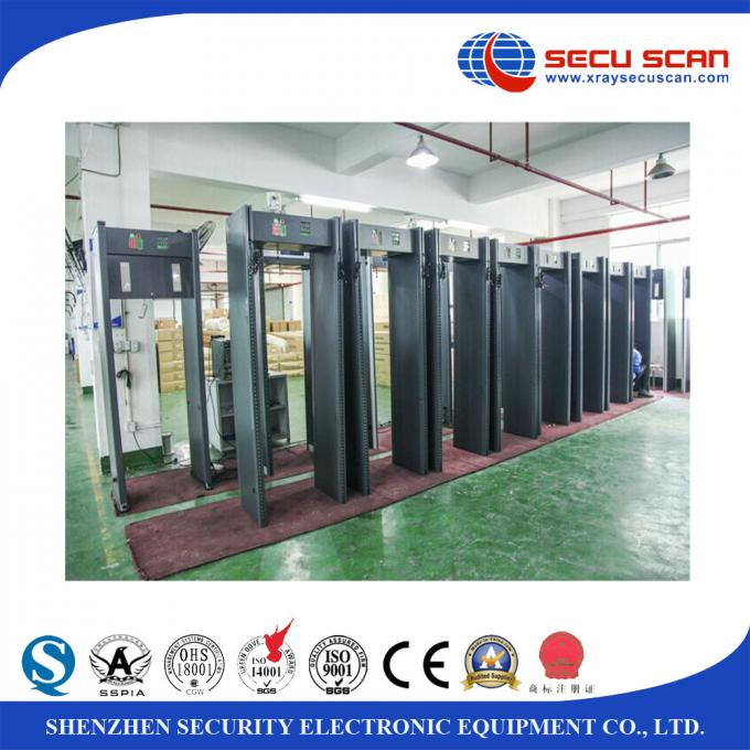 Indoor 24 Zones Walk Through Scanner Archway Metal Detector Door Frame