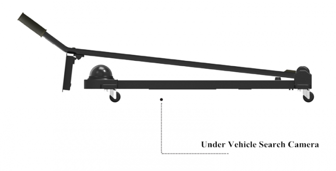 Portable 170 Degree Under Vehicle Search Mirror For Undercarriage Inspection