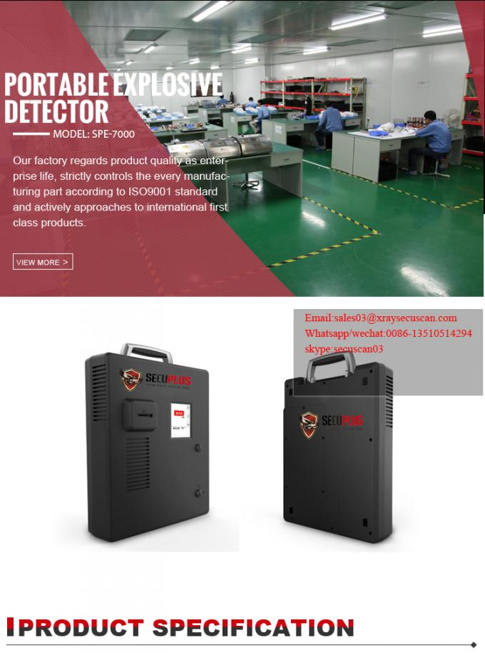 Professional Custom Explosives Detector Trace Detection For Army / Police