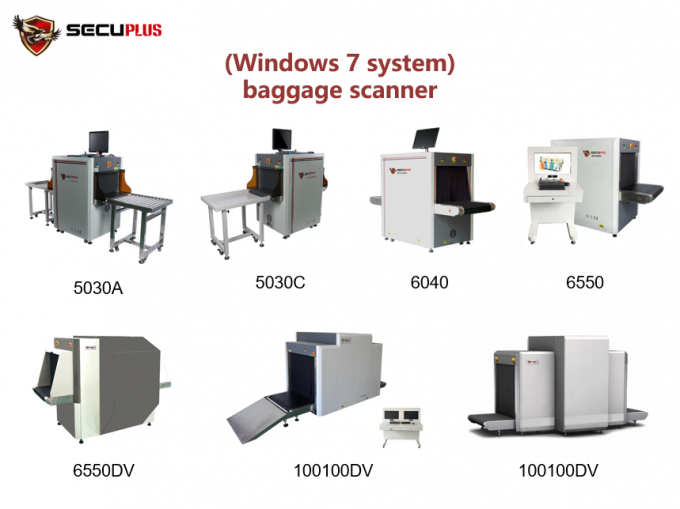 Baggage X Ray Scanning Machine 38mm Steel Panel Penetration Windows 7 Operation System