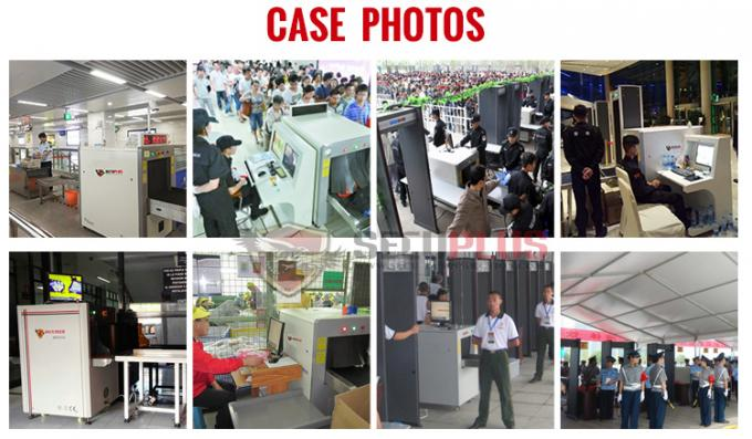 CE ISO X Ray Luggage Scanner At Airport Security With High Performance Screening Images