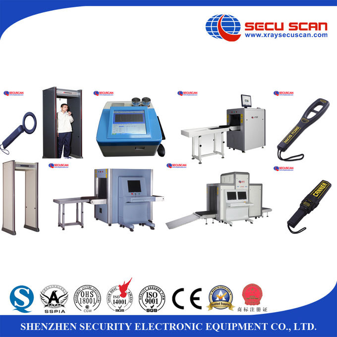 8mm Steel Luggage X Ray Machines inspection for small size baggage and handbag